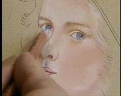 Girl's eyes in Pastel Pencils