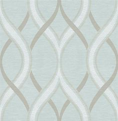 Turquoise Ogee from Symetrie #Wallpaper Book by A Street Prints | TotalWallcovering.Com