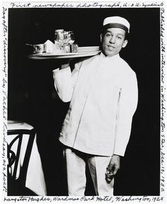 Langston Hughes at Wardman Park Hotel in Washington, DC - 1925