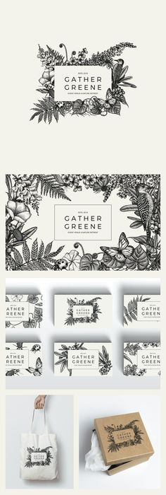 tipografia limpa e flexibilidade de interação de elementos   Designs | New Event Venue Gather Greene seeks botanically inspired logo design | Logo & brand identity pack contest