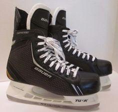 Bauer Supreme Tuuk One.4 Hockey Skates Super Stainless Black 11 R Size 12.5 #Bauer