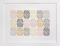 """""""Mid-Century Tiles"""" - Available in a variety of frame and size options"""