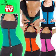 EXTREME Black Blue Slimming Redu Thermo Cami Hot Slim Belt Neoprene Shaper Vest Sweat Both Side Wearable *USPS*