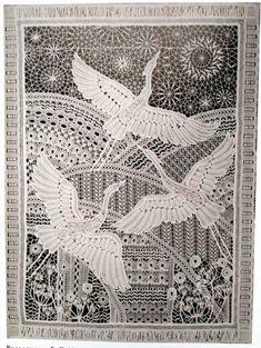 Ekatrina Russian lace Teacher Crochet Cross, Crochet Motif, Crochet Lace, Crochet Edgings, Crochet Shawl, Bobbin Lace Patterns, Weaving Patterns, Lace Art, Embroidery