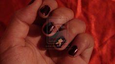 Amateur Nail art Attempt by Queen-Ade.deviantart.com on @deviantART
