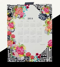 Michi Garden 2014 Canvas Wall Calendar...I like the tape