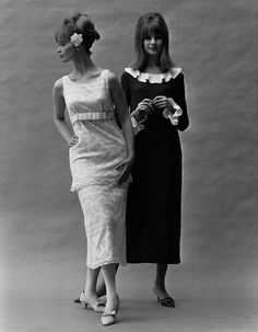 Jean Shrimpton in Mary Quant fashions.  I made the dress on the right in junior high school.