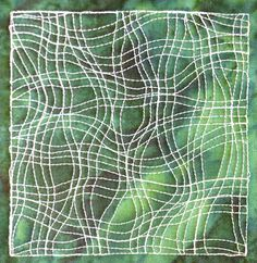 Crazy Weave - This beginner level free motion design is stitched from one edge of your quilting space to the other, making it a great design for sashing, borders, or to stitch over your entire quilt. Learn to sew it at http://freemotionquilting.blogspot.com/2011/11/day-339-crazy-weave.html