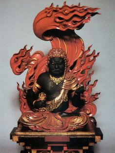 Fudo Myo, patron of the Samurai and one of the Five Wisdom Kings in Japanese mythology. African History, Asian Art, Sculptures, Japanese Culture, Buddha Art, Lion Sculpture, Shinto, Buddhism Art, Asian Sculptures