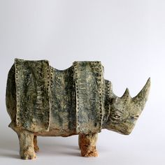 Rhino Blue, Ceramic Sculpture, Fine Art Ceramic by arekszwed on Etsy