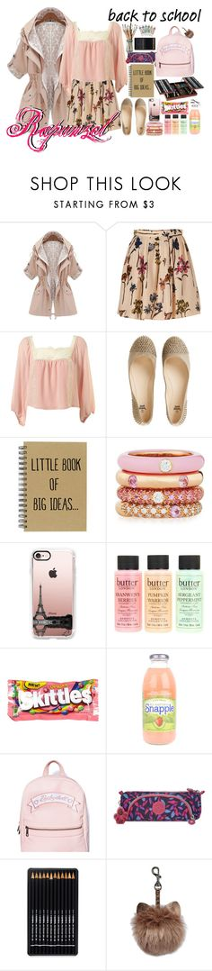 """Rapunzel"" by bambolinadicarta-1 ❤ liked on Polyvore featuring Moschino Cheap & Chic, Adolfo Courrier, Casetify, Butter London, River Island, Sugarbaby and Kipling"