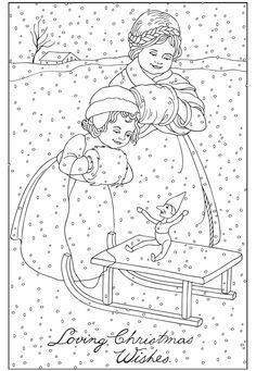 dover coloring book creative haven vintage christmas greetings by marty noble christmas coloring pages colouring adult detailed