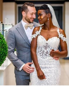 American wedding dress designers specializing in custom made to order wedding gowns & evening dresses you can afford from the USA. Couple Wedding Dress, Big Wedding Dresses, Custom Wedding Dress, Designer Wedding Dresses, Wedding Couples, Interracial Wedding, Interracial Couples, Black Bride, American Wedding