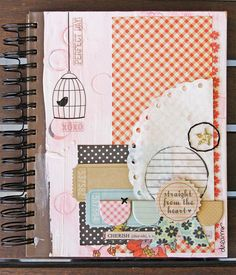 It's The Little Things journal - Scrapbook.com - Very pretty journal. #scrapbooking #journal #fancypantsdesigns