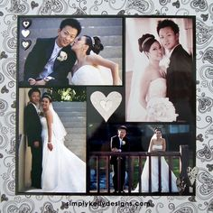 DIY Classic Wedding Scrapbook: Bride and Groom by Simply Kelly Designs #wedding #weddingscrapbook #blackandwhite #scrapbooking