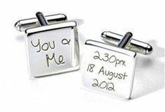 Personalised wedding cufflinks via ayedo.co.uk | Visit wedding-venues.co.uk