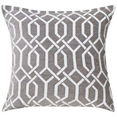 KLiving Valencia Geometric Cushion Cover Grey 43x43cm(Pack of 2)