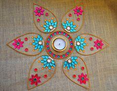 Diwali Rangoli Indian Rangoli Art New Year Party Decor by Likla, $30.00