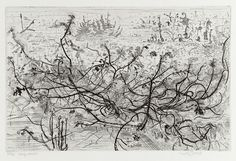 Large Heath, Etching by Anthony Gross for sale from Goldmark in Uppingham Art For Sale, Printmaking, Prints, British Artists, Etchings, Landscapes, Dibujo, Paisajes, Printing