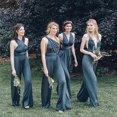 SOLSTICE BRIDE DESIGNER SPOTLIGHT: Bridesmaids in jumpsuits? Yes please! Outfit your best babes in the convertible jumpsuit from @twobirdsbridesmaid - available at Solstice Bride ( oh and brides, it's available in white too for that reception outfit change) / Email: hello@solsticebride.com for more info #solsticebride