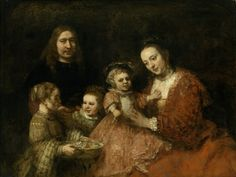 +Rembrandt, Portrait of a Family, about 1665. Oil on canvas, 126 × 167 cm…
