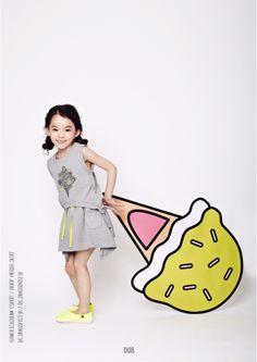 dearc, kids fashion, Kids wear, fashion, style, lookbook, icecream, springsummer collection, girl model, kids model www.dearckids.com,