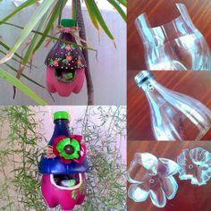 Bouteilles en plastique recyclés en de magnifiques nids d'oiseaux: DIY