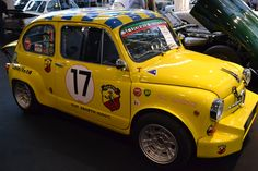 Fiat 500, Fiat Abarth, Steyr, Fast Cars, Numbers, Yellow, Collection, Autos, Numeracy