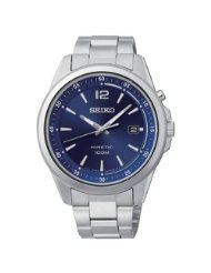 Shop for Seiko Men's Kinetic Blue Dial Stainless Steel Watch. Get free delivery On EVERYTHING* Overstock - Your Online Watches Store!
