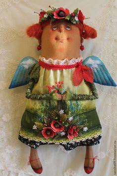 Лето красное.Ангел - разноцветный,ангел,текстильная кукла,ароматизированная кукла