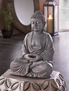 Decorate your home with a touch of peace, tranquility and Zen! This intricately designed Buddha statue captures him in deep meditation and has a calming influence on any room. Dimensions: x x high. Group Meditation, Meditation Room Decor, Deep Meditation, Buddha Meditation, Meditation Cushion, Meditation Space, Meditation Music, Massage Place, Good Massage