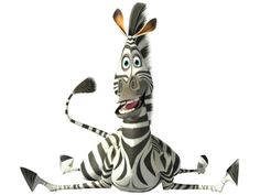 Madagascar - Marty the Zebra (voiced by Chris Rock) is the instigator behind escaping from the zoo. He constantly dreams about the wild. One night, following the successful escape of the penguins, he leaves the zoo too, causing his friends to attempt a rescue at Grand Central Station. After they are recaptured, they are shipped to a wildlife preserve in Kenya. However, the crates containing Marty and his friends fall off the transport ship and land on Madagascar.