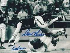 "Dave Parker Pittsburgh Pirates Autographed 8x10 Photo Inscribed """"Cobra"""" -Diving-"