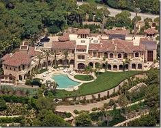 Eddie Murphy's Beverly Hills palace, located in the gated community of Beverly Park.