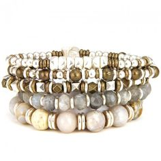 The Normandy Bracelet Set in Silver (More Colors Available)