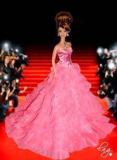 Barbie Gowns, Doll Clothes Barbie, Fashion Royalty Dolls, Fashion Dolls, Barbie Top, Poppy Parker, Mauve, Barbie Dream, Barbie World
