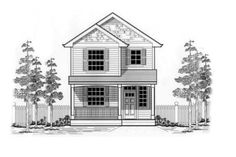 Houseplans.com Front Elevation Plan #53-127