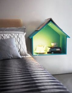 Bedside table are really necessary nowadays. Here are some really creative and eye-catchy ideas if you don't like traditional ones.