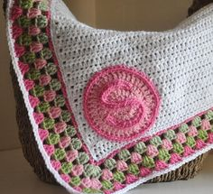 double crochet blanket with granny border.