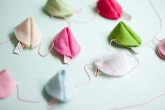 Felt Fortune Cookie Garland DIY | Oh Happy Day!