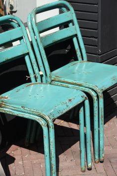 Aqua Vintage Metal Chair's
