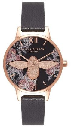 Women's Olivia Burton Leather Strap Watch, 30Mm