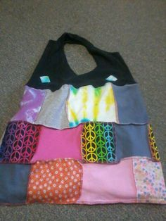 Hippie Chick Tie Dye And Peace Sign Tote by MommaHippieCreations, $12.00