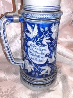 """LEMP EST.(WILLIAM Sr- Private Collection) Antique Collectible 12"""" German Beer Stein With Pewter Lid by LempTreasures, $149.99 OBO FREE SHIPPING !! Price Reduced on Etsy at www.etsy.com/shop/LempTreasures  &  www.stores.ebay.com/LEMP-TREASURES  We Also Accept """"Bill Me Later""""  Through Paypal. Six Months At O% Interest. As always, we appreciate your business. Thank you ♥♥♥"""