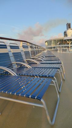 Pull up a seat. With multiple levels of deck chairs, there's always a spot to relax on Oasis of the Seas.