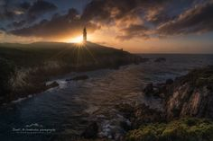 The lighthouse and the sun by David Martinez Lombardia
