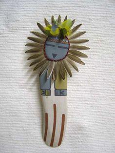 Old Style Hopi Carved Sunface Traditional Powerful Spirit Katsina Doll