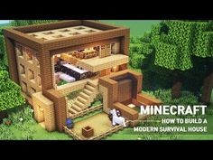 Minecraft Building Guide, Minecraft House Tutorials, Easy Minecraft Houses, Minecraft Plans, Amazing Minecraft, Minecraft House Designs, Minecraft Tutorial, Minecraft Blueprints, Lego Minecraft