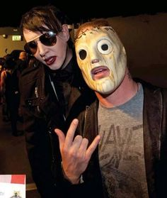 2 of my favourite people Marilyn Manson & Corey Taylor x