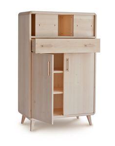 gabinete de madera Cal 100% macizo